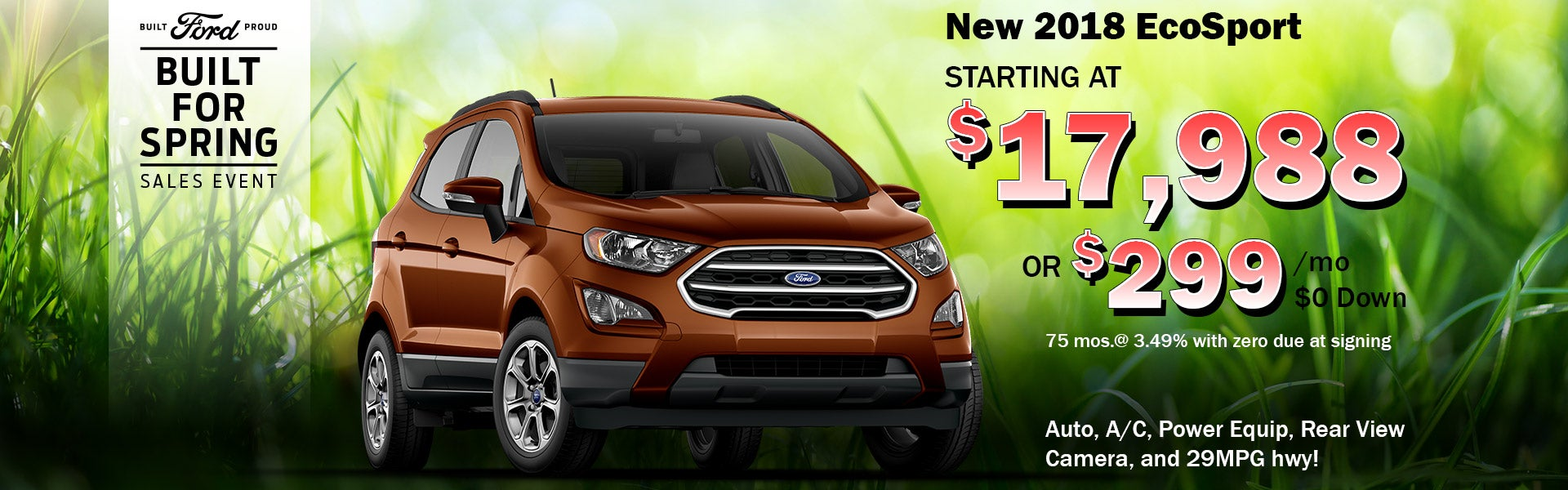 New Ecosports Starting At 17 988 Or 299 Mo In Chandler